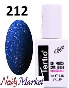 Гель-лак Tertio Classico 18мл №212  синий блеск