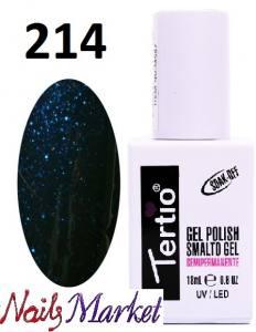 Гель-лак Tertio Classico 18мл №214 сизый с блестками