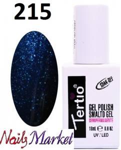Гель-лак Tertio Classico 18мл №215 морская волна с блестками