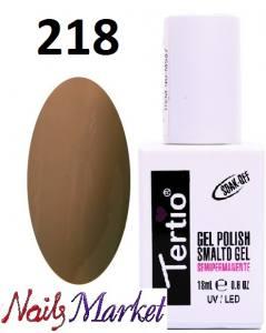 Гель-лак Tertio Classico 18мл №218 коричневый