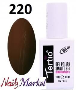 Гель-лак Tertio Classico 18мл №220 темный коричневый