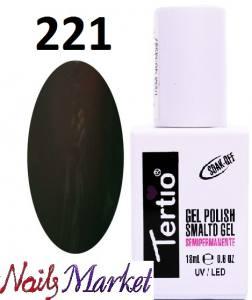Гель-лак Tertio Classico 18мл №221 темный коричневый