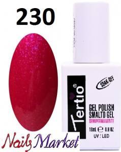 Гель-лак Tertio Classico 18мл №230 малиново-красный микроблеск