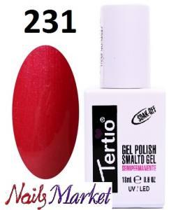 Гель-лак Tertio Classico 18мл №231 малиново-красный микроблеск