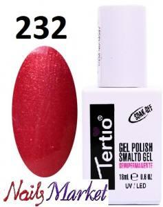 Гель-лак Tertio Classico 18мл №232 малиново-красный микроблеск