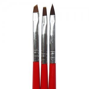 Кисть Mart с чёрно-красной ручкой 3шт