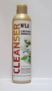 Жидкость для снятия липкого слоя  Nila 250мл  зеленый чай