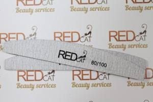 Пилка для ногтей Red Cat серая луна 80\100
