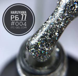 Гель-лак Haruyama Серия РБ, №04 - серебряные голографические блестки на прозрачном фоне, 8 мл