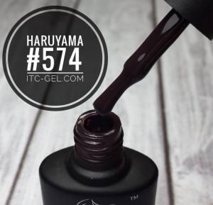 Гель-лак Haruyama Классика №574, темный сливовый, 8 мл