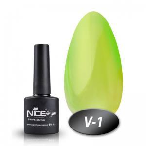 Витражный гель-лак Nice 8мл V-1 зеленый