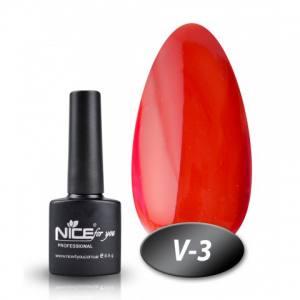 Витражный гель-лак Nice 8мл V-3 красный