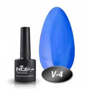 Витражный гель-лак Nice 8мл V-4 голубой