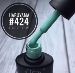 Гель-лак Haruyama Классика №424, зелено-голубой, 8 мл