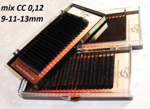 Ресницы I-Beauty СС-0.12 микс 9-11-13мм