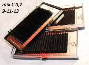 Ресницы I-Beauty С-0.7 микс 9-11-13мм