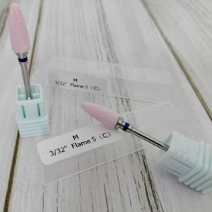 Фреза керамическая розовая кукурузка синий ободок