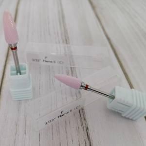 Фреза керамическая розовая кукурузка красный ободок