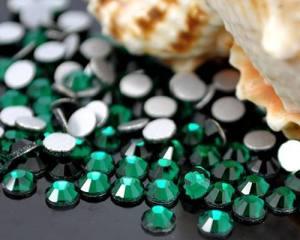 Cтразы стекло emerald ss10 (размер 2.4мм)