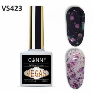 Гель-лак CANNI VEGAS 423 рожево-смарагдовий 7,3 ml