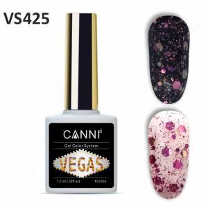 Гель-лак CANNI VEGAS 425 розово-серебряный 7,3 ml