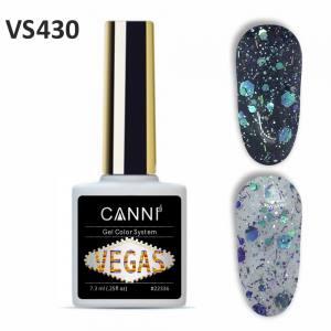 Гель-лак CANNI VEGAS 430 сине-изумрудный 7,3 ml