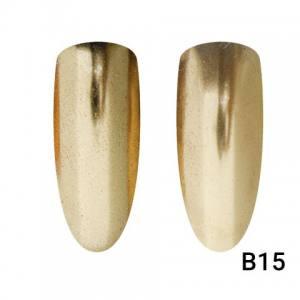 Втирка для ногтей Global Fashion, Champagne Mirror Gold B15