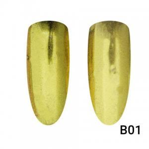 Втирка для ногтей Global Fashion, Mirror Gold B01