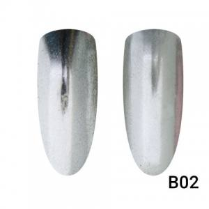 Втирка для ногтей Global Fashion, Mirror Silver B02