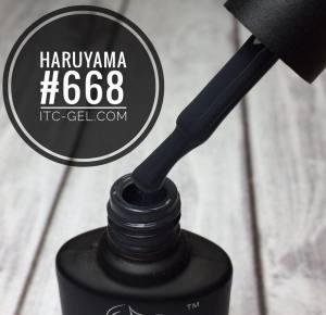 Гель-лак Haruyama Классика №668, темный серый,  8 мл