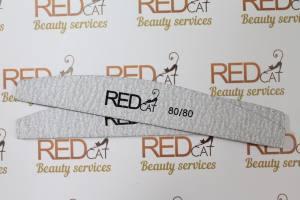Пилка для ногтей Red Cat серая луна 80\80