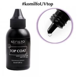 Komilfo Wipe Top топ для гель-лака с липким слоем, 50 мл (без кисточки)