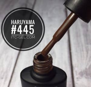 Гель-лак Haruyama Классика №445, каштановый, 8 мл