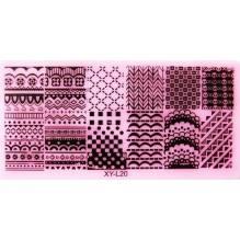 Пластина для стемпинга XY-L020