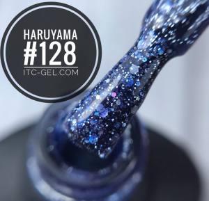Гель-лак Haruyama Классика №128, серо-голубой с голографическими блестками разного размера, 8 мл