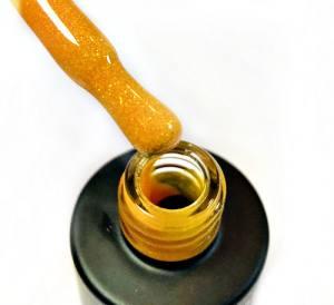 Гель-лак Grattol  LS Yashma 9мл 01 апельсиновый с золотым шиммером