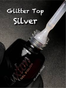 Топ для гель-лака LUXTON Glitter Top Silver с шиммером, 10 мл