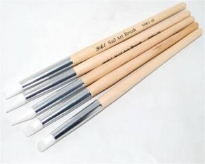 Набор силиконовых кистей YRE деревянная ручка NSKG-06