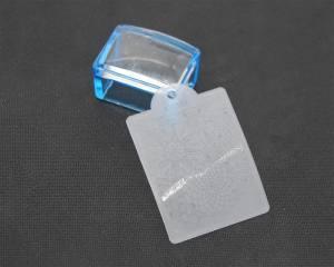 Печать силиконовая с трафаретом квадратная