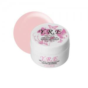 Гель для наращивания YRE однофазный матово-розовый 15г