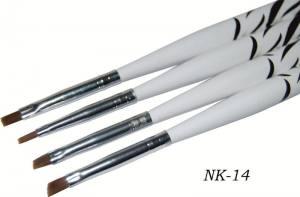 Набор кистей для геля YRE зебра NK-14 (в7) 4шт