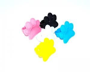 Палитра для красок на палец пластиковая цветная 1шт