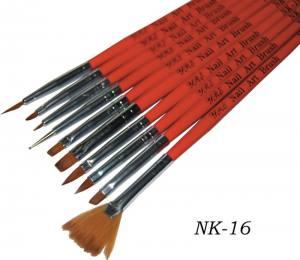 Набор кистей для рисования YRE (10шт.красн.ручка) NK-16