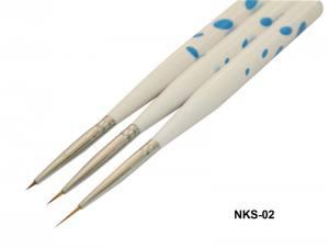 Набор кистей для рисования YRE(3 шт.горох-бел.син.) NKS-02