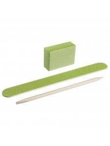 Набор одноразовый Kodi №4 зеленый (пилочка 120/120, баф 120/120, апельсиновая палочка)