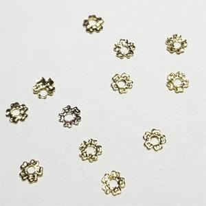 Металлические фигурки 25 Цветок золото (10шт)